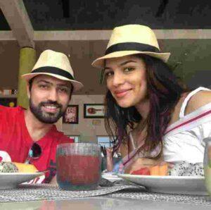 shikha singh with her husband