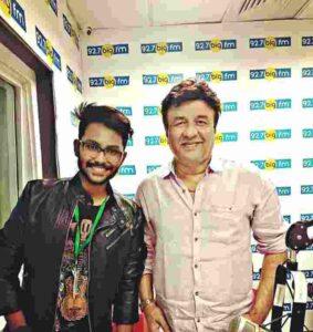 Jaan Kumar Shanu with veteran bollywood singer Anu Malik