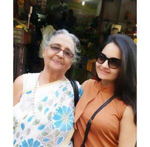 Giaa Manek with her granny