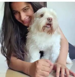 Sara Gurpal with her pet dog