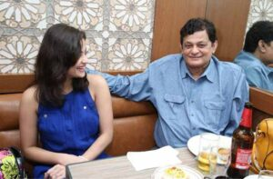 Sneha Ullal with her father