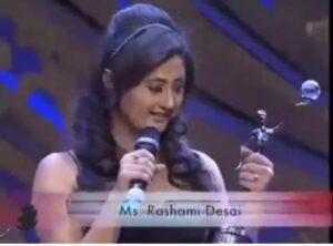 Rashami Desai during awards