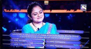 Mohita Sharma 7th crore question in english