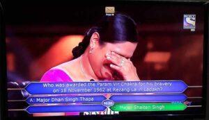 Anupa Das using 50-50 Lifeline on 1 Crore Question
