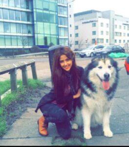 Shirin Kanchwala dog lover