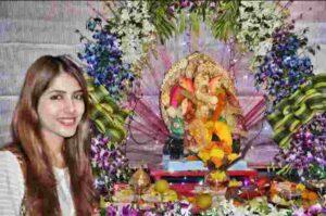 Aparna Sharma with lord Ganesha