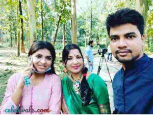 Arunita Kanjilal with her family