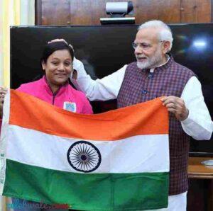 arunima sinha with pm narendra modi