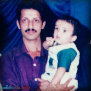 nihal tauro with his father