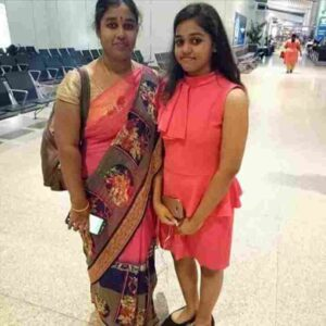 shanmukhapriya with her mother