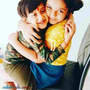 Aditi Jalatare with her brother
