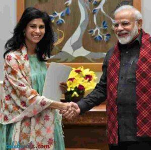Gita Gopinath with pm narendra modi