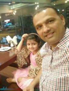 Gracy Goswami with her father