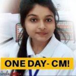one day cm shrishti goswami