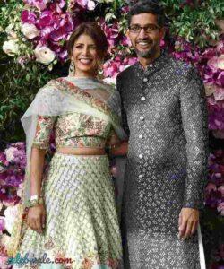 sundar pichai with her wife