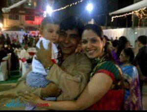 Chetanya adib with his family