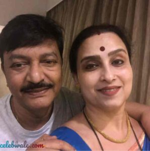 Chitra Wagh with her husband
