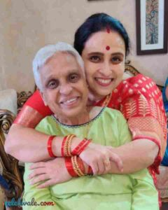 Chitra Wagh with her mother