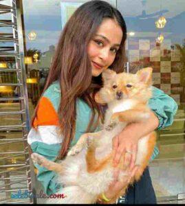 Kristina Patel with her pet cat