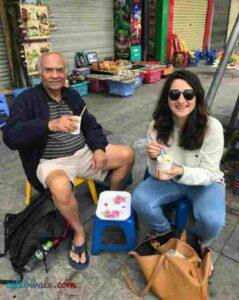 Mahima Kaul with her father