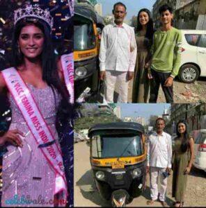 Manya Singh vlcc femina first runner up miss india uttar pradesh with brother