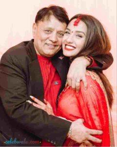 Priyanka Karki with his father