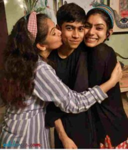 Resham Tipnis with her children