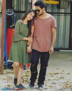 Shanmukh Jaswanth with his girlfriend