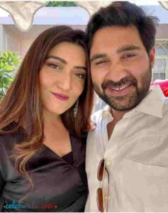 Shireen Mirza with her husband