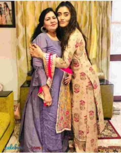 Shireen Mirza with her mother