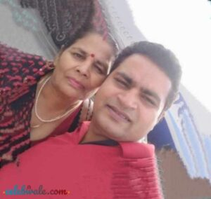 Vikas Sharma with her mother