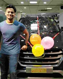 shanmukh jaswanth buy his first car in his career