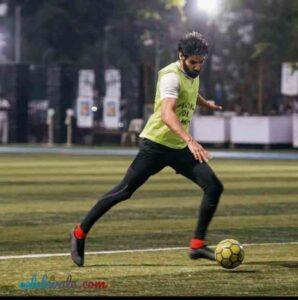 Ahan Shetty loves footbal