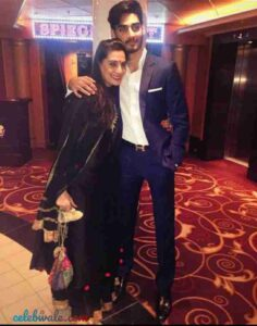 Ahan Shetty with his mother
