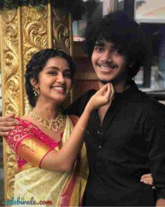Anupama Parameswaran with her brother