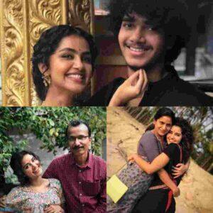 Anupama Parameswaran with her family