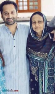 Fahadh Faasil with his mother