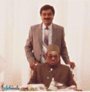 Gautam adani with his father shantilal adani