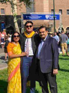 Gautam adani with his son jeet adani