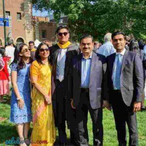 Gautam adani with his son karan adani and jeet adani