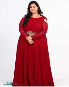 Geetha Bharathi Bhat in gown