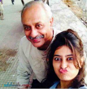 Nidhi Subbaiah with her father bollachand subhash subbaiah