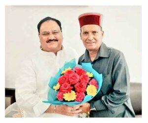 Ram Swaroop Sharma with his favorite politician