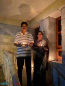 Ramesh Jarkiholi with his wife