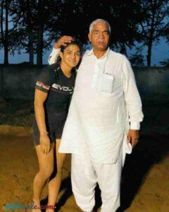 Ritu Phogat with her father Mahavir Phogat