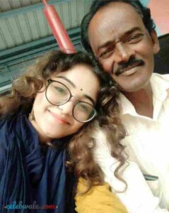 dhanushree with her father