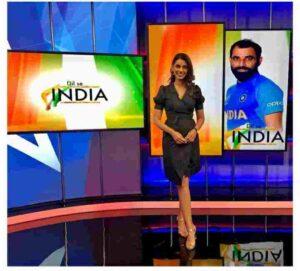 sanjana ganesan sports presenter dil se india