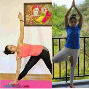 vaishnavi gowda doing yoga