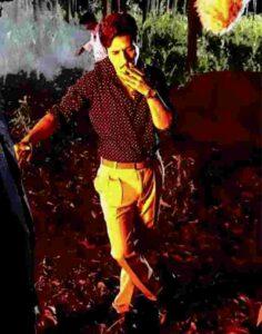 Amit Mistry smoking