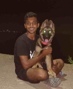 Chetan Sakariya animal lover